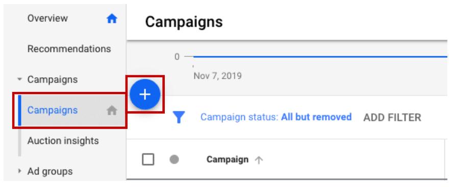 יצירת קמפיין בגוגל